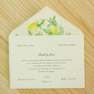 """Invitación de boda """"Limones"""""""