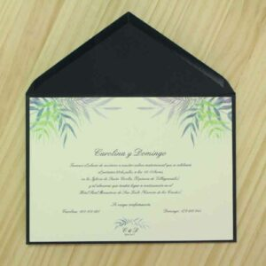 "Invitación de boda ""Tropical colores"""