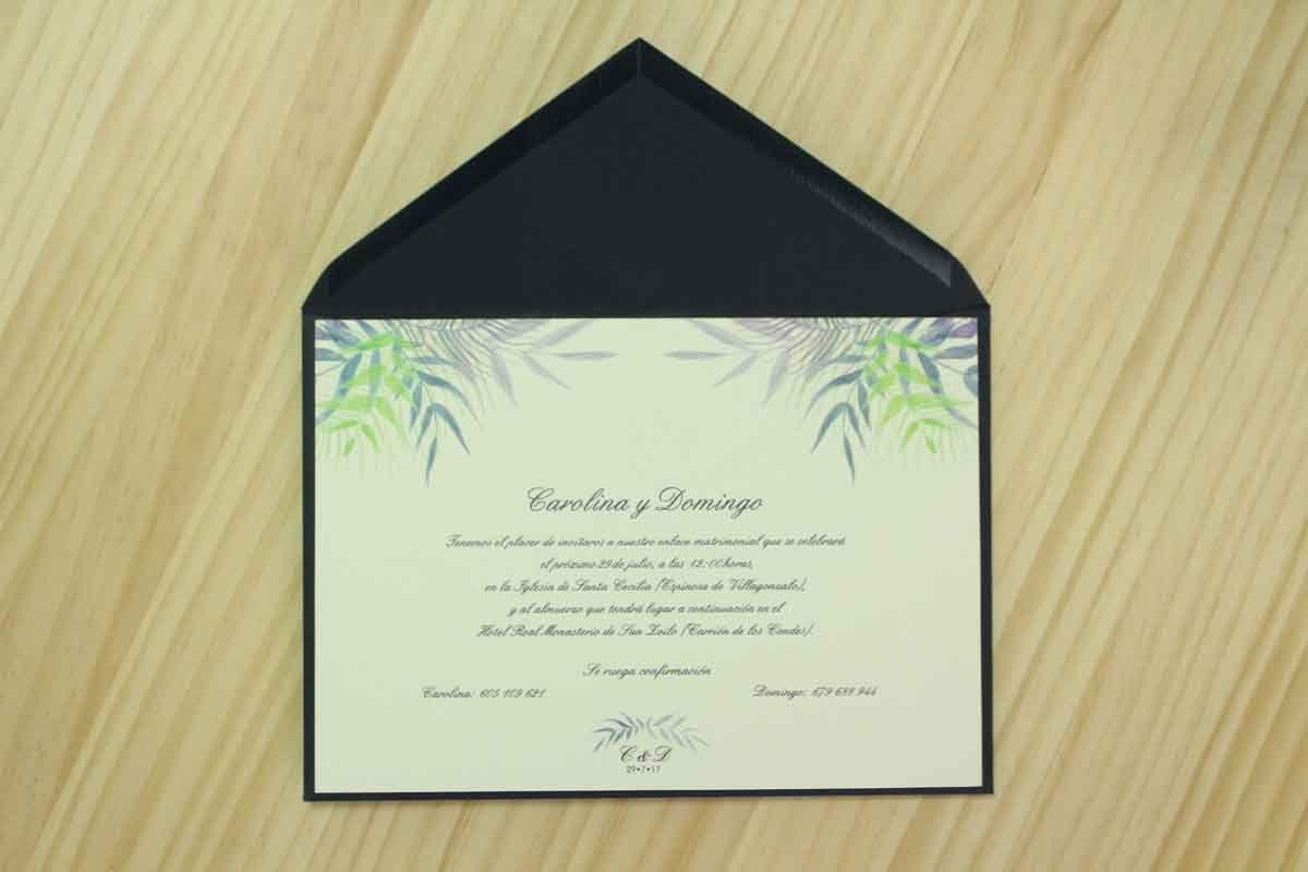 "Invitación de boda ""Tropical colores"""