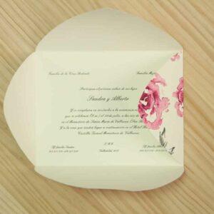 """Invitación-sobre de boda """"Rosas"""""""