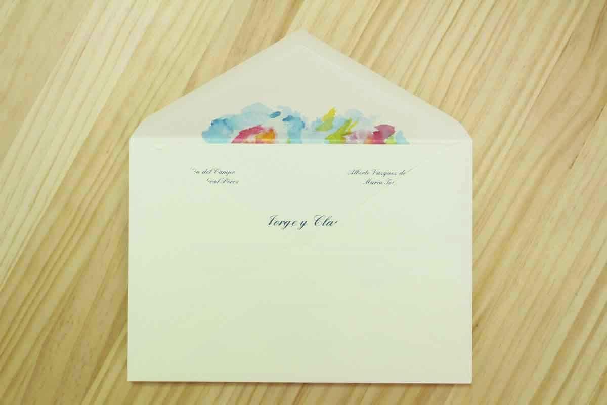 """Invitación de boda """"Acuarela abstracta azul y amarilla"""""""