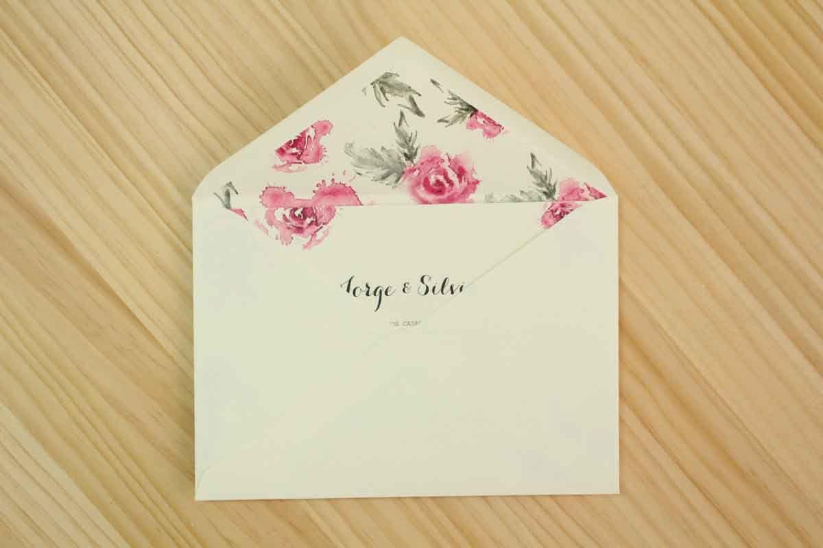 """Invitación de boda """"Rosas"""""""