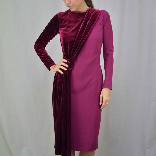 vestido terciopelo granate cherubina