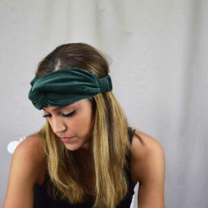 turbante de terciopelo