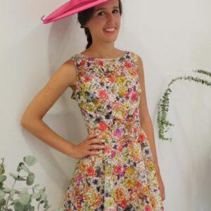 Vestido corto flores