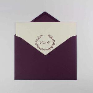 "Invitación de boda clásica díptico ""Logotipo"""