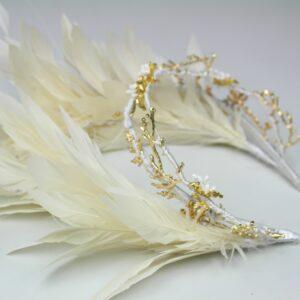 tiara de plumas