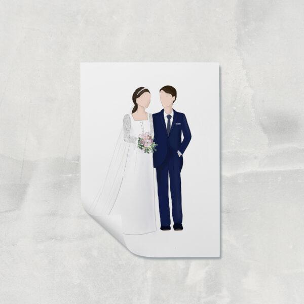 Ilustración pareja novios